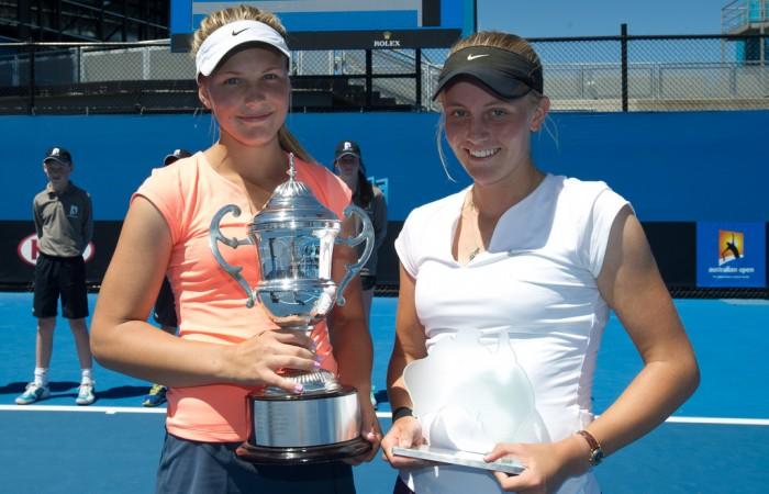 Maddison Inglis and Zoe Hives, 18s Australian Nationals, Melbourne Park, 2013. XUE BAI