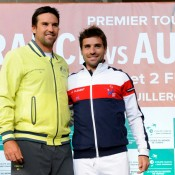 Team captains Pat Rafter and Arnaud Clement.  © FFT/P. Montigny