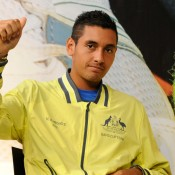Nick Kyrgios at the draw ceremony. © FFT/P. Montigny