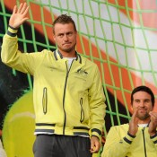 Lleyton Hewitt at the draw ceremony. © FFT/P. Montigny