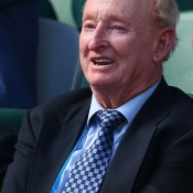 MELBOURNE, AUSTRALIA - JANUARY 21: Former tennis player Rod Laver watches the action as Tomas Berdych of the Czech Republic plays David Ferrer of Spain in their quarterfinal match during day nine of the 2014 Australian Open at Melbourne Park on January 21, 2014 in Melbourne, Australia.  (Photo by Quinn Rooney/Getty Images)