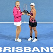 Alla Kudryavtseva, Anastasia Rodionova, Brisbane International, 2014. GETTY IMAGES