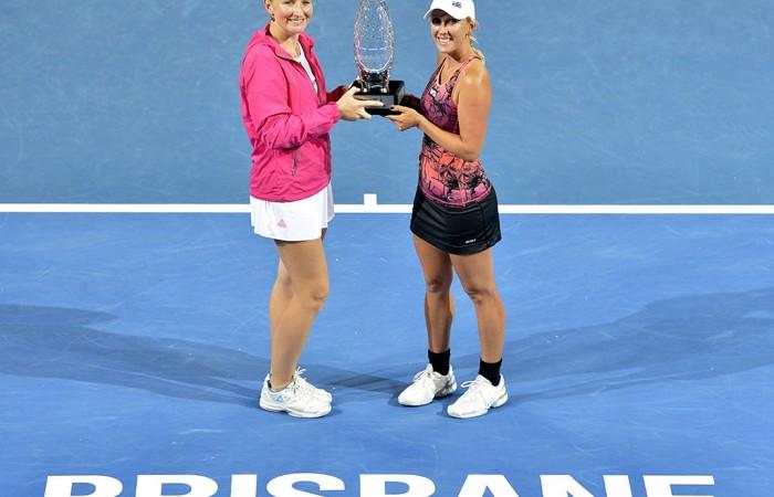 Alla Kudryavtseva, Anastasia Rodionova, Brisbane International, 2014. GETTY IMAGES