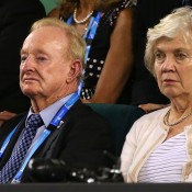 MELBOURNE, AUSTRALIA - JANUARY 26:  Former tennis player Rod Laver watches on in the men's final match between Rafael Nadal of Spain and Stanislas Wawrinka of Switzerland during day 14 of the 2014 Australian Open at Melbourne Park on January 26, 2014 in Melbourne, Australia.  (Photo by Quinn Rooney/Getty Images)
