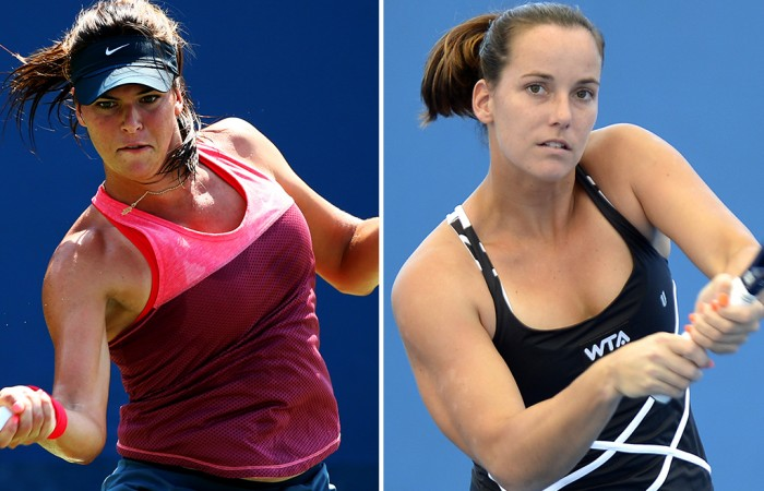 Jarmila Gajdosova (R) and Ajla Tomljanovic have been awarded women's main draw wildcards at Brisbane International 2015; Getty Images