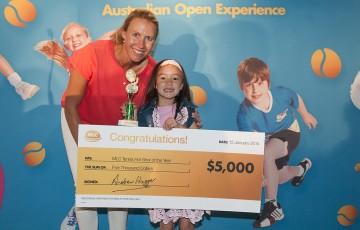 2013 MLC Tennis Hot Shot winner Jayla Tran.