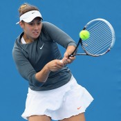 Sara Tomic in action during the Australian Open Play-off; Getty Images