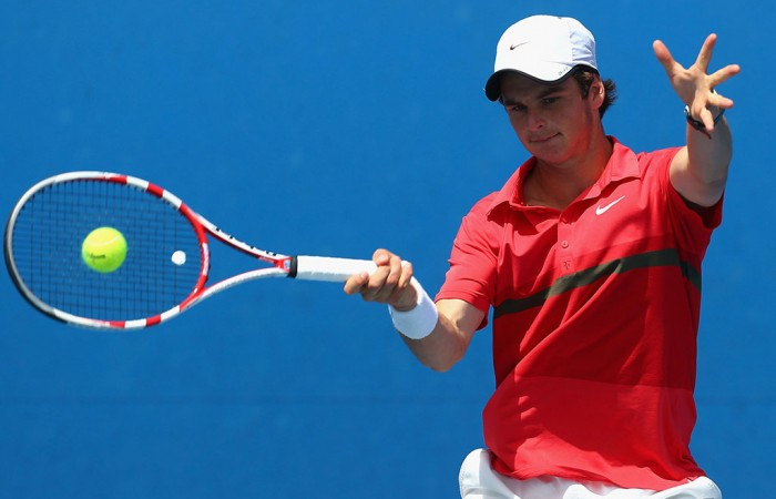 Jacob Grills Australian Open, Boys' Singles Championships, 2013, Melbourne. GETTY IMAGES