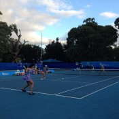 Women's doubles final action at the City of Salisbury Tennis International; Tennis Australia