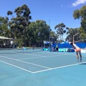 Women's singles semifinal action at the City of Salisbury Tennis International; Tennis Australia
