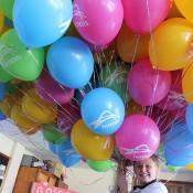 Balloons in celebration of Stanislas Wawrinka's Australian Open victory at the Macclesfield-Echunga AO Blitz town party; Tennis Australia