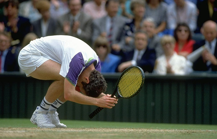 John McEnroe, Wimbledon, 1992. GETTY IMAGES
