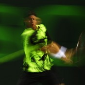 A multi-exposure shot of Lleyton Hewitt in action against world No.1 Rafael Nadal in the second round of the Sony Open in Miami; Getty Images