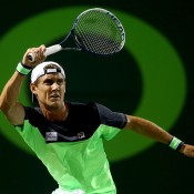 Matt Ebden in action during his three-set loss to No.6 seed Andy Murray at the Sony Open in Miami; Getty Images