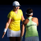 Ashleigh Barty and Casey Dellacqua, Australia. Photo by MATT ROBERTS/GETTY IMAGES