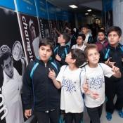 School students take a tour of Melbourne Park as part of the Gallipoli Youth Cup's School Commemoration Program; Elizabeth Xue-Bai