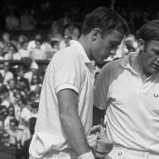 John Newcombe (left) and Tony Roche, Wimbledon. GETTY IMAGES