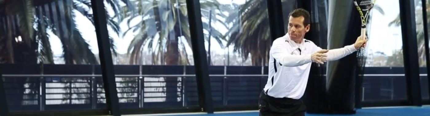 Scott Draper backhand topspin lob
