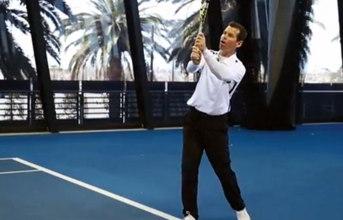 Scott Draper backhand topspin lob