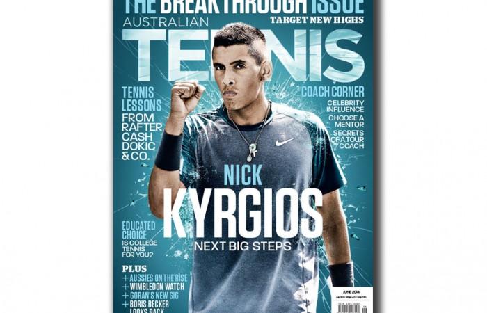 Nick Kyrgios, Australian Tennis Magazine June 2014 cover