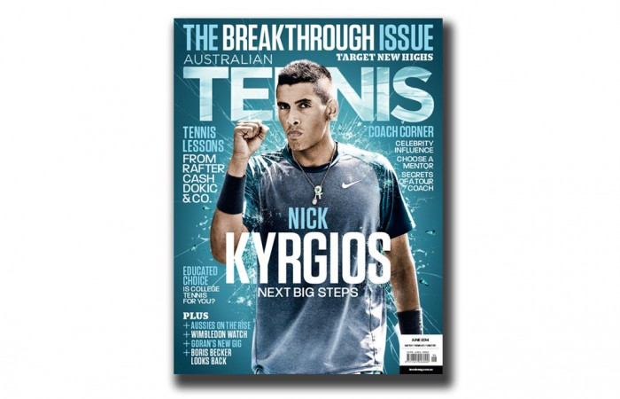 Nick Kyrgios, Australian Tennis Magazine, June, 2014, cover