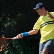 Alex De Minaur in action at the Junior Davis Cup Asia/Oceania qualifying competition in Kuching, Malaysia; Wee Photography