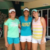 The Australian Junior Fed Cup team of (L-R) Maddison Inglis, Priscilla Hon and Kimberly Birrell; Tennis Australia