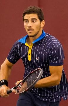 Ryan Agar in action at the Tallahassee ATP Challenger in 2014; Larry James/Tallahassee Challenger