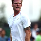 Sam Groth in action during his opening round loss to 21st seed Alexandr Dolgopolov; Getty Images