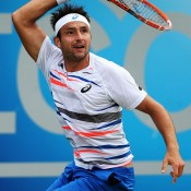 Marinko Matosevic in action during his third round victory against Jo-Wilfried Tsonga at the ATP Queen's Club event in London; Getty Images