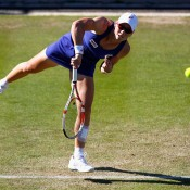 Sam Stosur in action during her third round loss to compatriot Casey Dellacqua at the AEGON Classic in Birmingham, England; Getty Images
