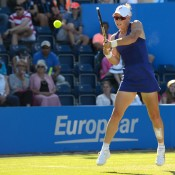 Sam Stosur in action during her third round loss to compatriot Casey Dellacqua at the AEGON Classic in Birmingham, England; Christopher Levy