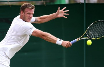 Sam Groth in action in the Wimbledon qualifying event at Roehampton, London; Getty Images