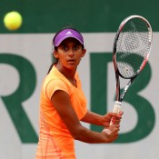 Naiktha Bains in action at the junior event at Roland Garros 2014; Getty Images