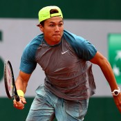 Akira Santillan in action at Roland Garros 2014; Getty Images