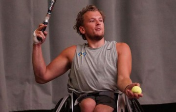 Dylan Alcott in action at the ITF wheelchair Belgian Open; photo credit Belgian Open