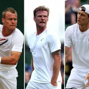 (L-R) Lleyton Hewitt, Sam Groth and Matt Ebden will be in action in Newport; Getty Images