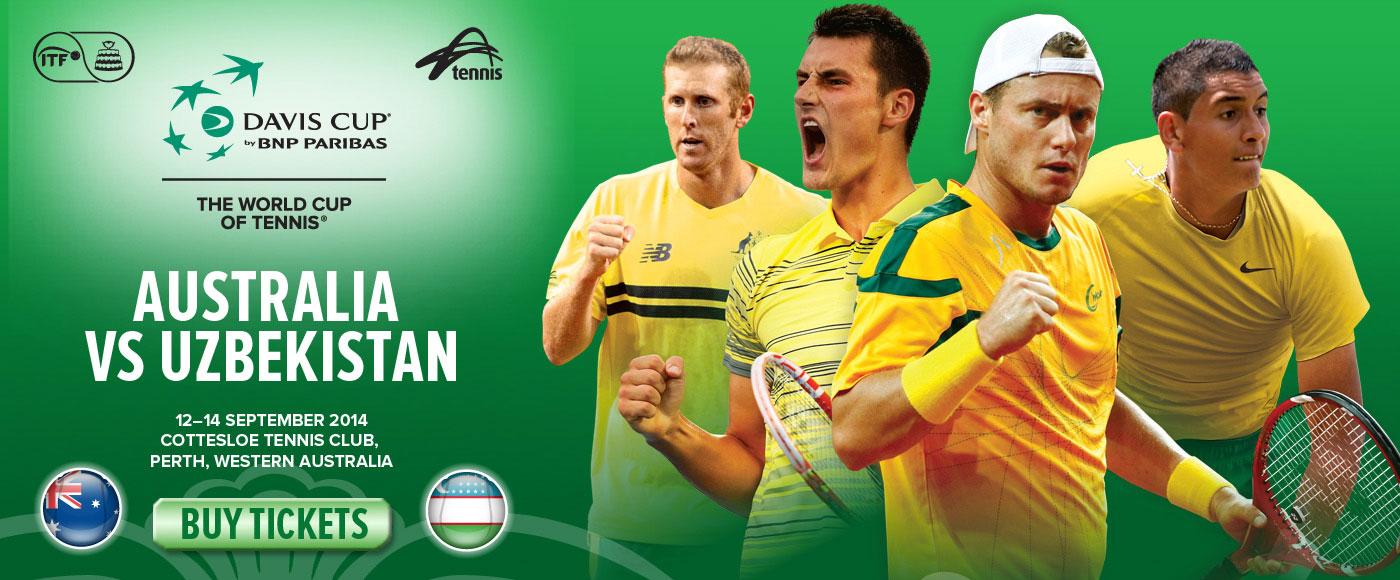 Davis Cup Australia v Uzbekistan 2014
