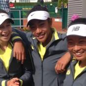 Australia's World Junior Tennis Finals girls' team of (L-R) Gabriela Ruffels, Destanee Aiava and Jeanette Lin; Tennis Australia