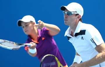 Ash Barty (L) and John Peers; Getty Images