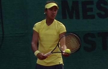 Destanee Aiava in action during Australia's tie against the Czech Republic at the World Junior Tennis Finals in Prostejov; Tennis Australia