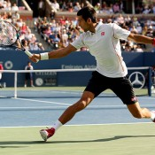 Novak Djokovic, US Open, 2013, New York. GETTY IMAGES