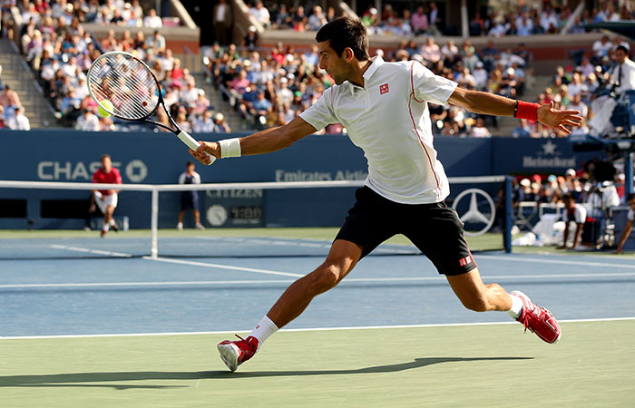 Novak Djokovic, US Open, 2013, New York. GETTY IMAGES