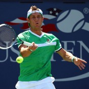 Matt Ebden in action during his first round victory over Tobias Kamke of Germany at the US Open; Getty Images