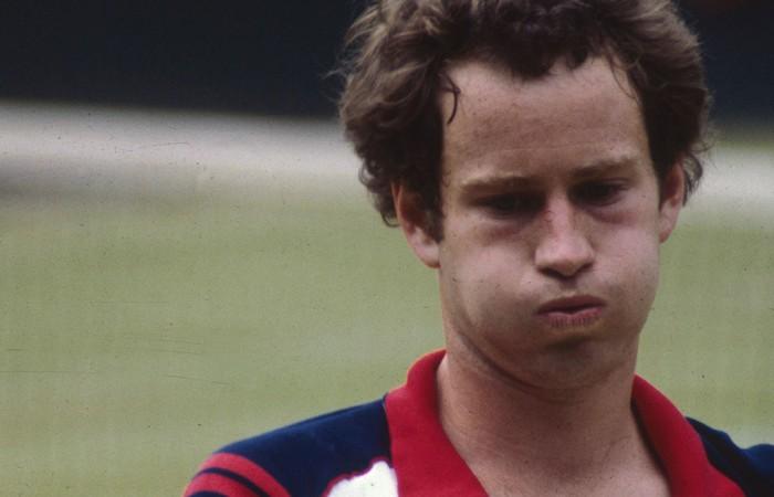John McEnroe, Wimbledon, 1982. HULTON ARCHIVE