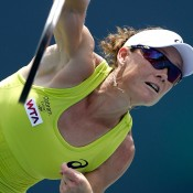 Sam Stosur in action at the WTA Bank of the West Classic in Stanford, California, United States; Getty Images