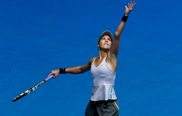 Eugenie Bouchard in action at Hopman Cup 2014; Getty Images