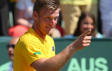 Sam Groth, Davis Cup, Cottesloe, 2014. GETTY IMAGES