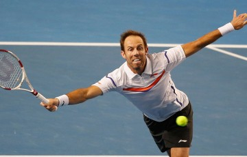 Paul Hanley in action at Australian Open 2014; Getty Images