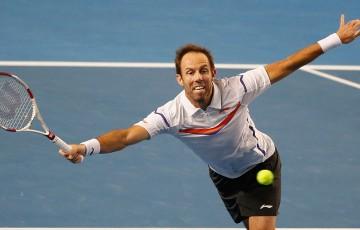 Paul Hanley in action at Australian Open 2014; Getty Images